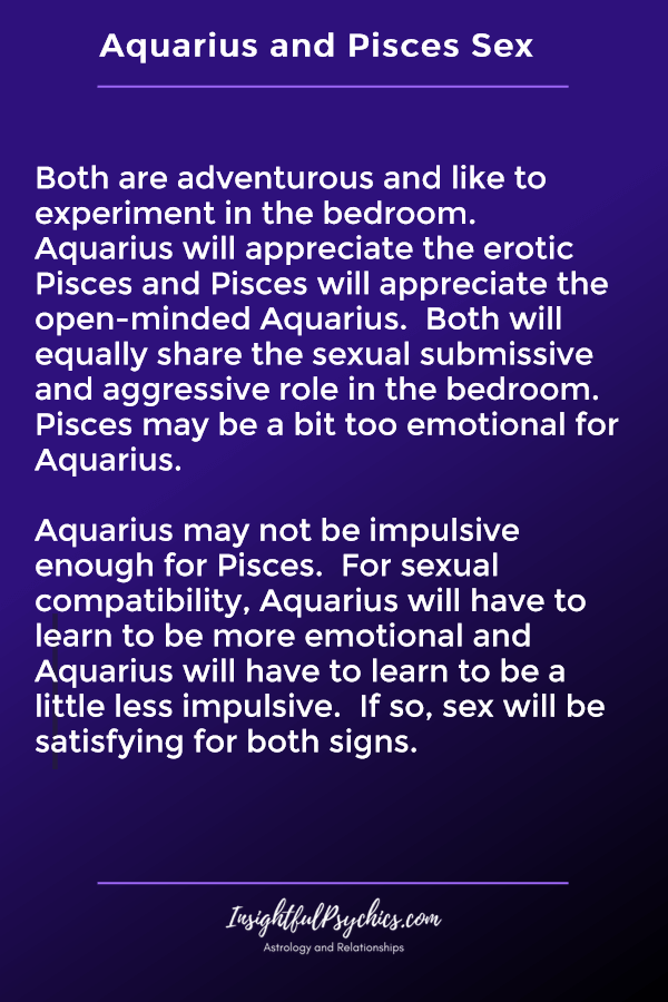 aquarius and pisces sexually compatible