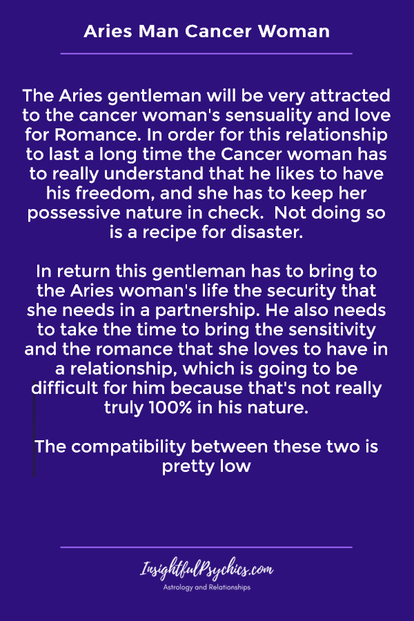 aries man with cancer woman