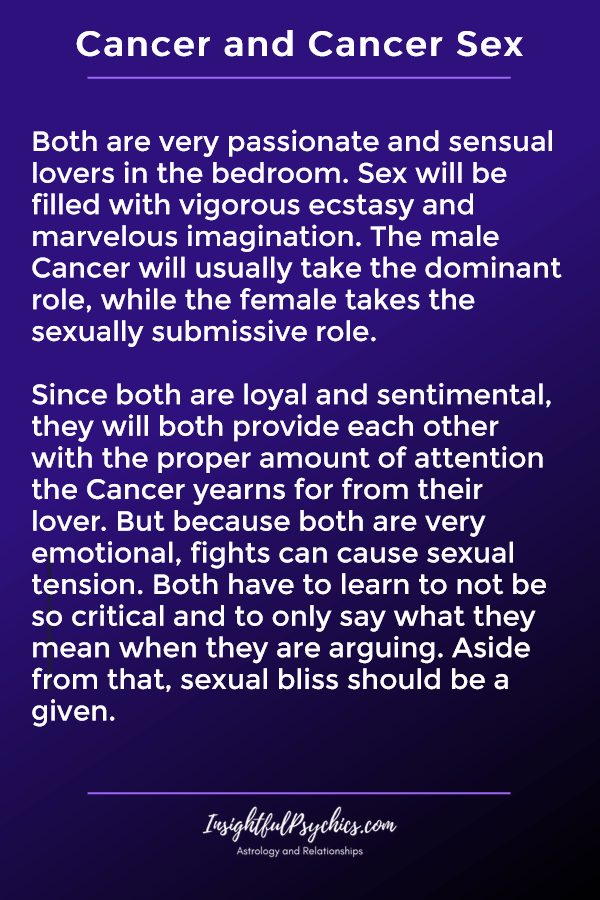 cancer and cancer sexually compatible