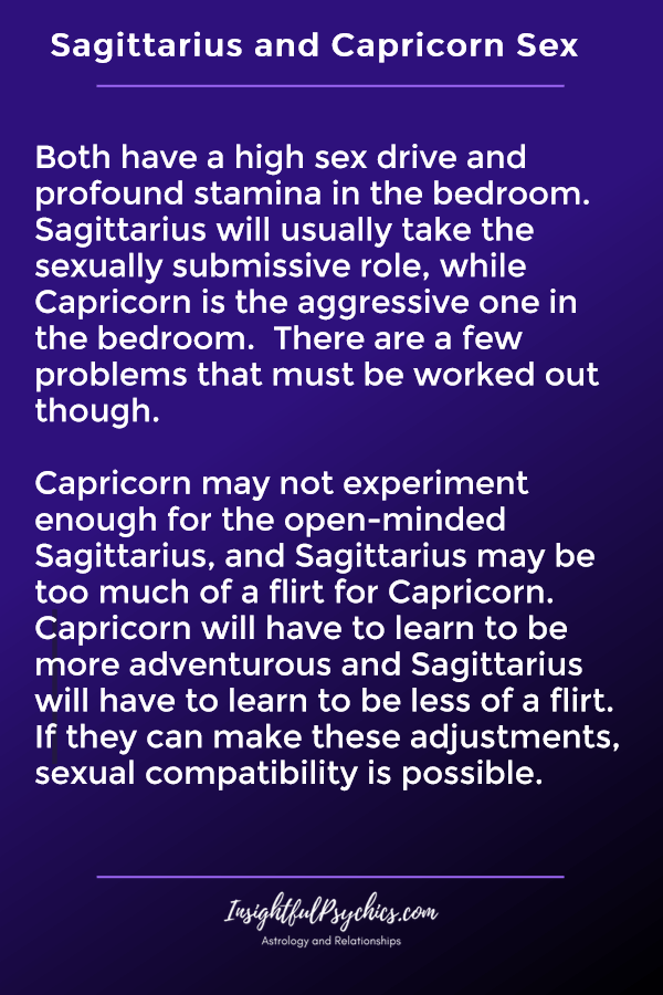 sagittarius and capricorn sexually compatible