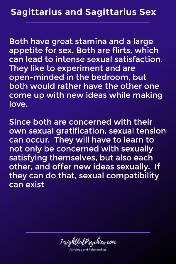 sagittarius and sagittarius sexually compatible