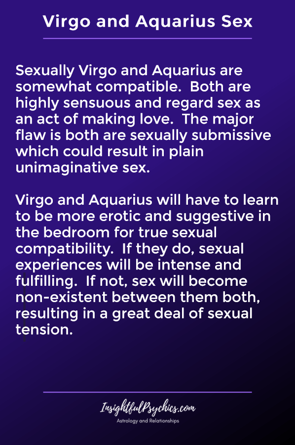 virgo and aquarius sexually compatible
