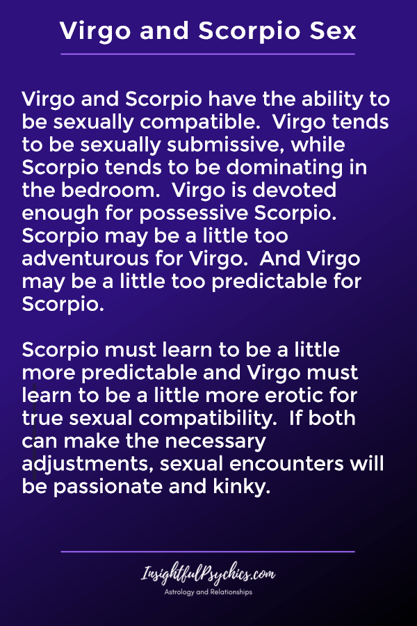 virgo and scorpio sexually compatible